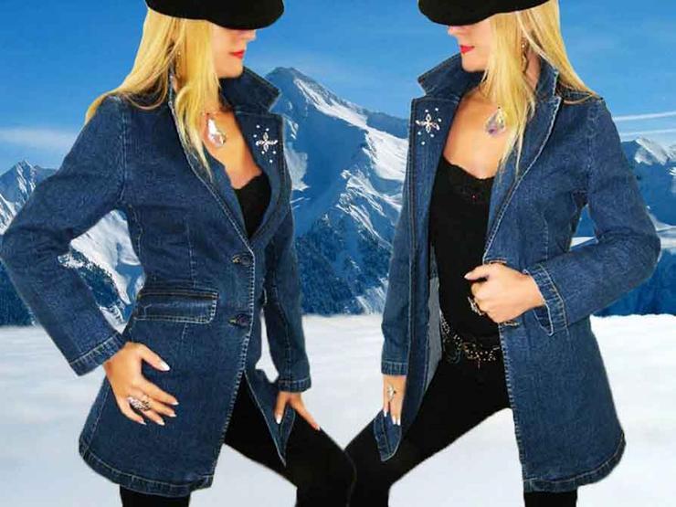 Damen Jeans Mantel aus Paris