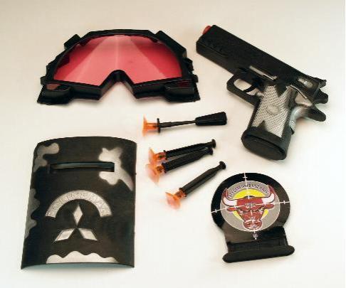 NEU Polizei-Set - Pistole mit Softpfeilen und div. Zub