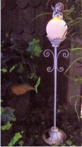 NEU SOLAR Leuchtobjekt Engel auf Gartenleuchte