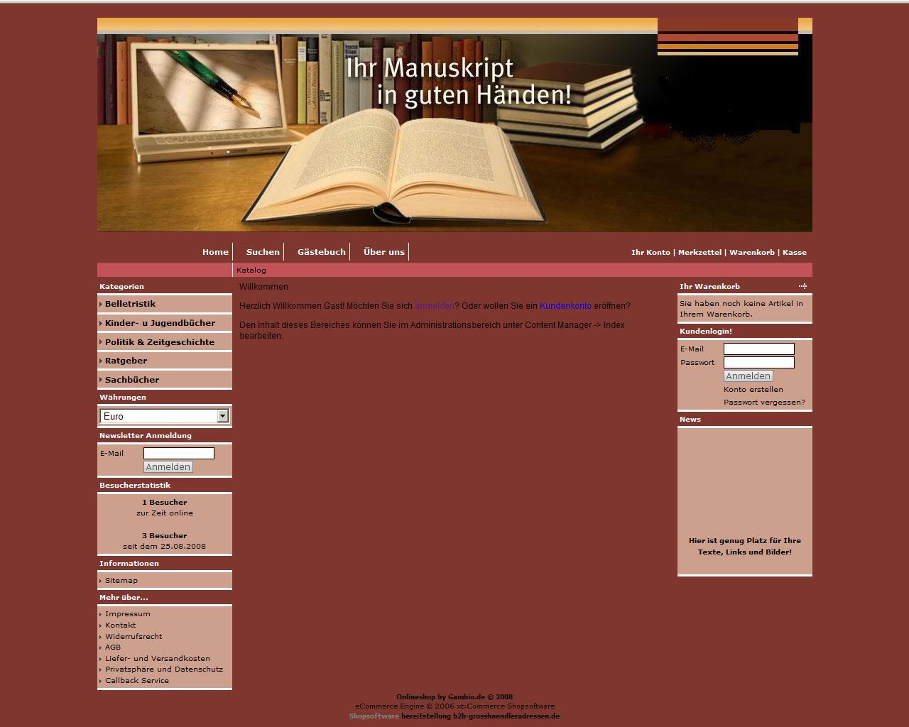Dropshipping Shop für Bücher