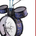 Schlagzeug mit Hocker Trommel Drumset für Kinder