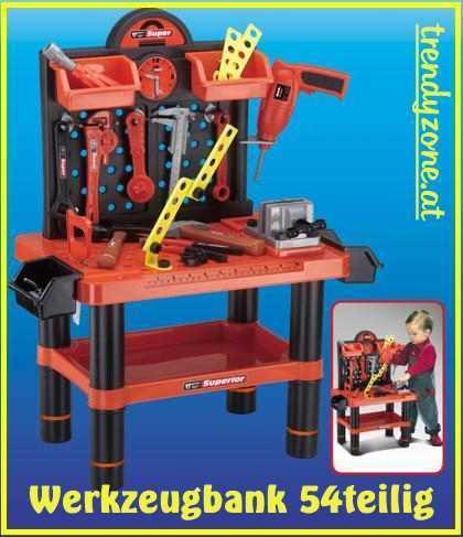 Werkzeugbank Werkbank mit Werkzeug für Kinder 54 t