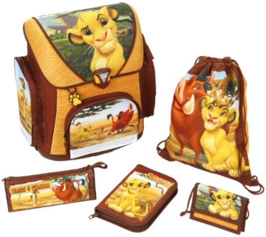 Grosshandel 5-teiliges König der Löwen Schulranzen Set