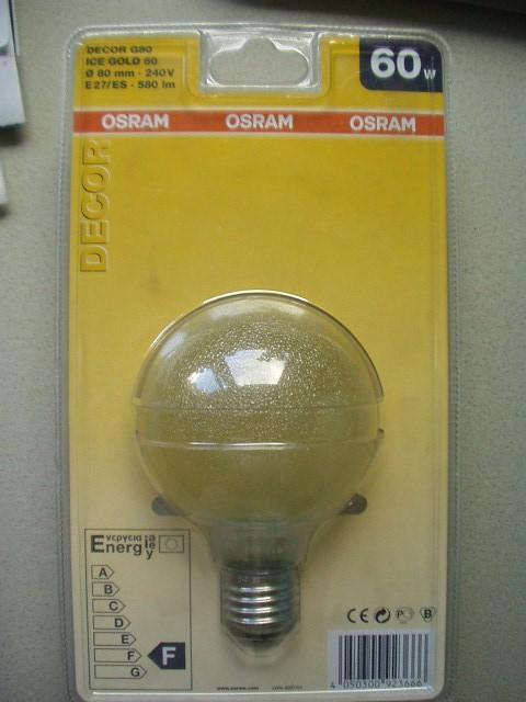 10 x Osram Globe G95 Golddekor Restposten