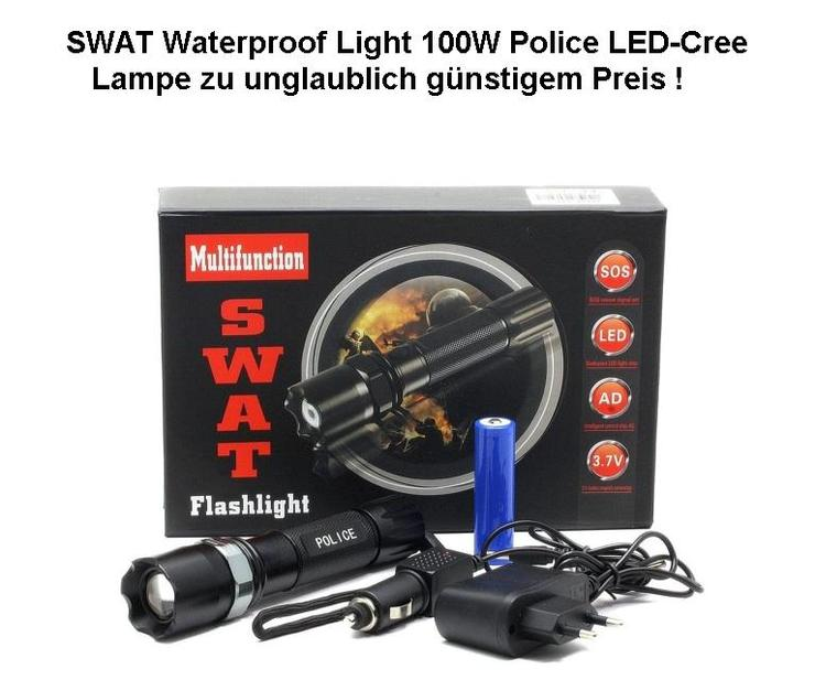 Profi Cree LED SWAT Taschenlampe HI-Power