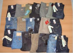 LEVIS, LEE, TOM TAILOR, WRANGLER Restposten