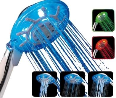 Massage Duschkopf mit Farbwechsel