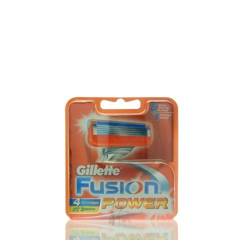 4 Gillette Fusion Power Rasierklingen