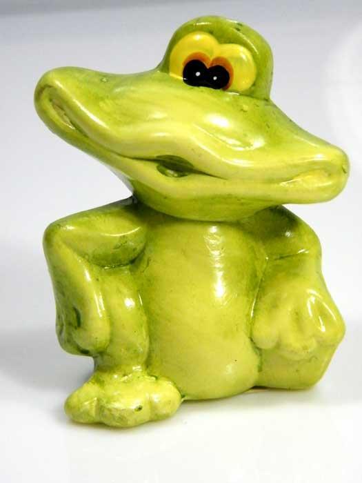 Deko Figur Frosch aus Keramik Restposten