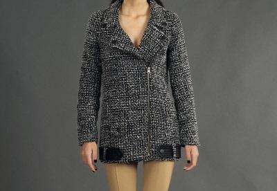Damen MID-LENGTH TWEED JACKET