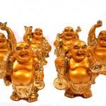 Deko Budha Figuren im 6 er Set Groß in Gold Nr 03