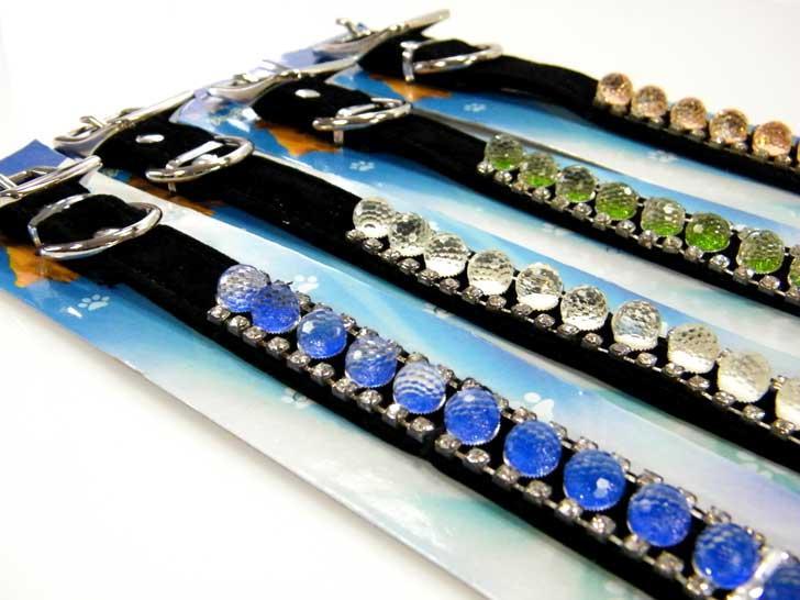 Hundehalsband Leder Halsband Kristallsteinen