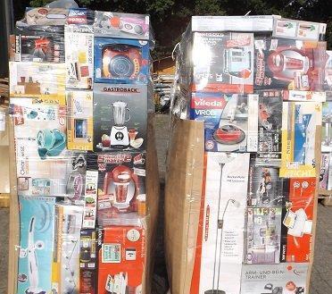Discount Elektrogeräte Waren Restposten Paletten