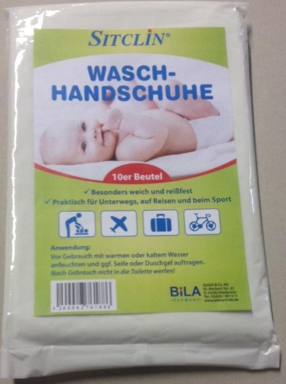 SITCLIN Wasch-Handschuhe 10 Stück