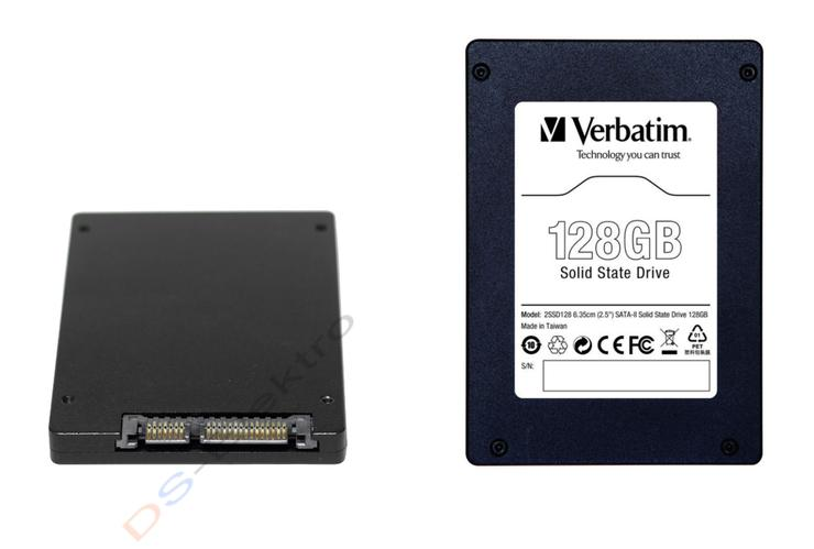 Verbatim interne SATA-II SSD Festplatte mit 128 GB