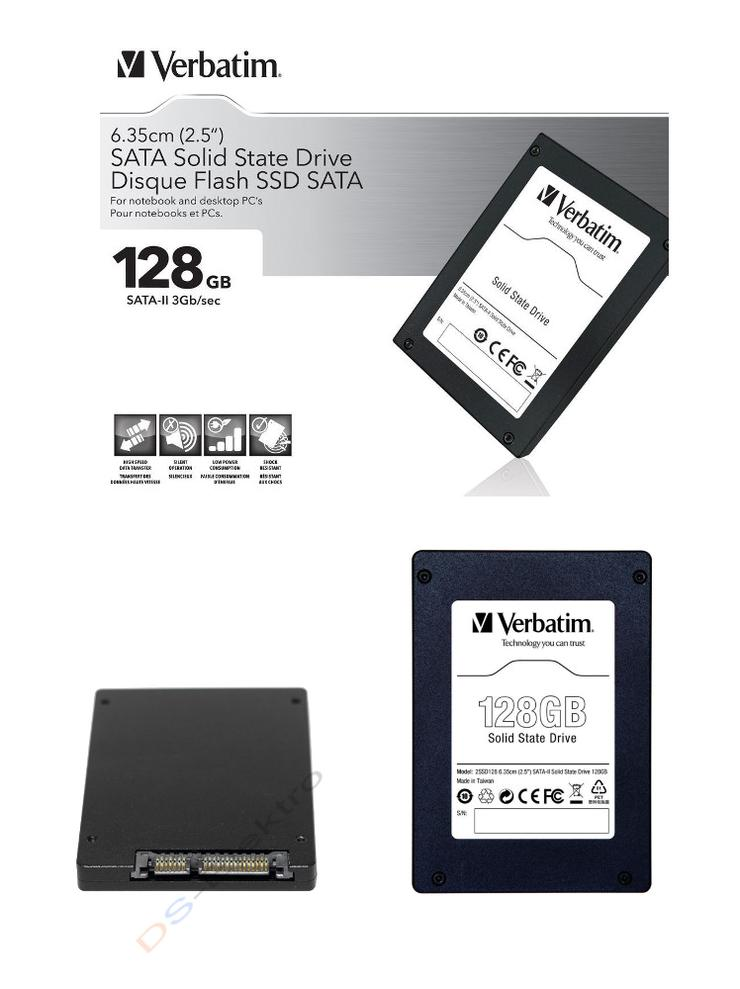 Verbatim SSD Festplatte 128 GB OVP