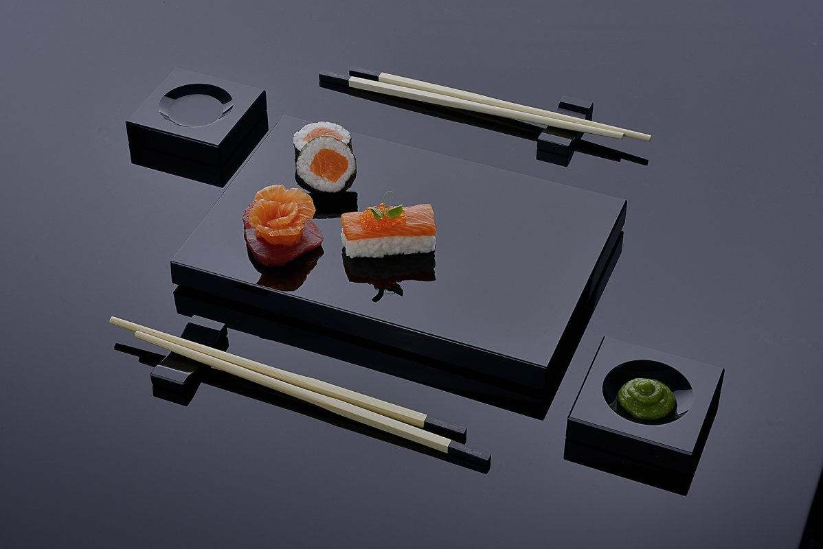 gro h ndler f r gro er posten schwarz silber geschirr sets f r die japanische k che sushi 500. Black Bedroom Furniture Sets. Home Design Ideas