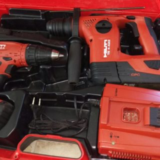 35 x SET Hilti Akkuschrauber & Akkubohrhammer 22V Tool Kit TE 4-A22 + SFC 22-A