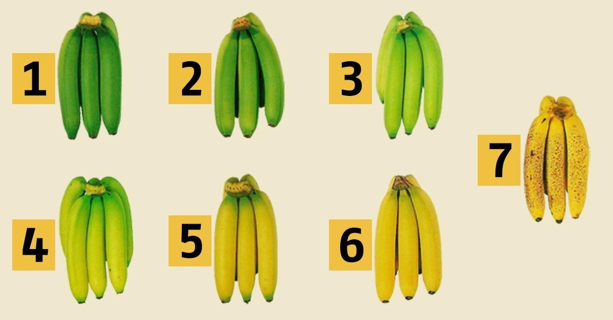 Reifegrade von Bananen - Tabelle