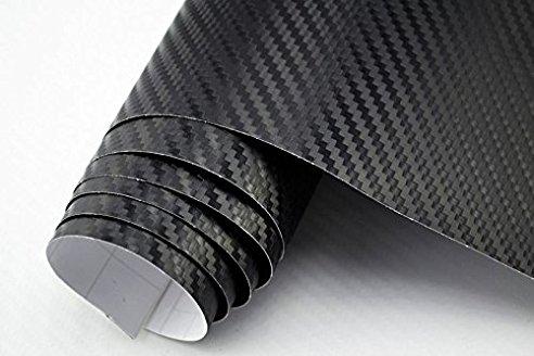 Premium Carbonfolie schwarz immer vorrätig