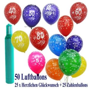 Helium-Set für Party, Geburtstag, Hochzeit etc.