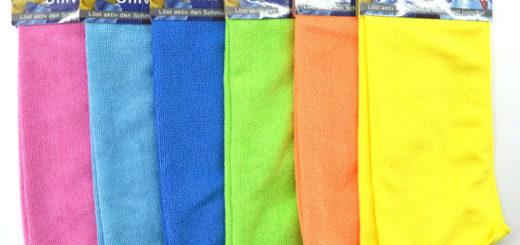 Mikrofasertuch 2er 30x30cm, 6 Farben