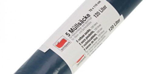 Müllsäcke 120l 110x70cm 5er blau