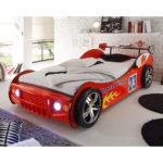 Autobett Energy Kinderzimmer Bett 90x200 rot lackiert inkl. Beleuchtung