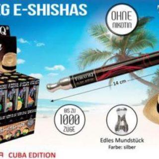 """E-Shisha """"CUBA""""Edition Premium Tobaliq Mix Sorten ca.1000 puffs mit LED ohne Nikotin"""