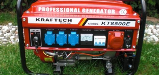 E-START + Schlüssel 4-Takt 6500 Watt Benzin Stromerzeuger Generator Stromgenerator Notstromaggregat