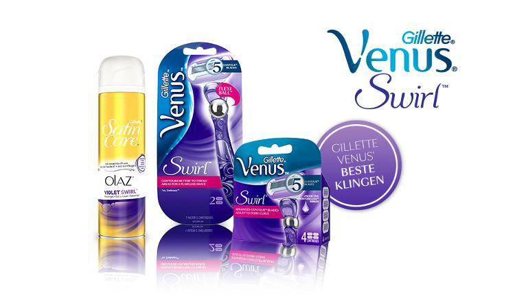 Gillette Venus, Swirl, Rasierer mit FlexBall-Technologie