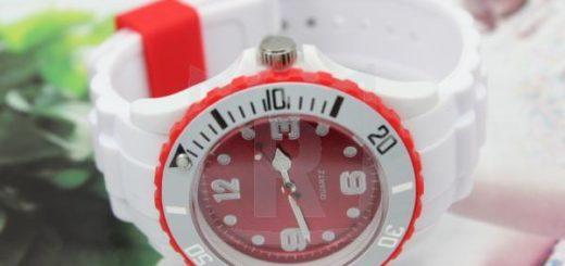 Silikon Armbanduhr Ice design Quarzuhr Silikonuhr