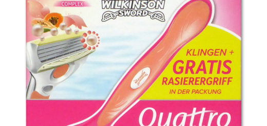 Wilkinson Quattro for Women Rasierklingen Papaya & Pearl + Rasierergriff