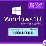 Windows 10 Professional - Produktschlüssel per Mail