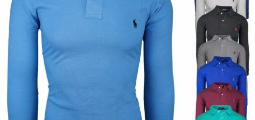 Ralph Lauren Langarm Poloshirt Outlet Ware