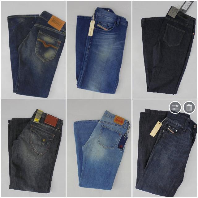 Jeans Mix Diesel, G-Star, Replay, Levis, Jack & Jones, LTB, Only, Vero Moda, Wrangler, Lee