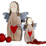 Holz Engel 15 cm, Dekofigur, Weihnachten