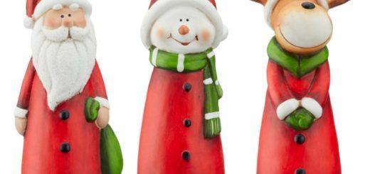 Zaundeko Weihnachten aus Keramik