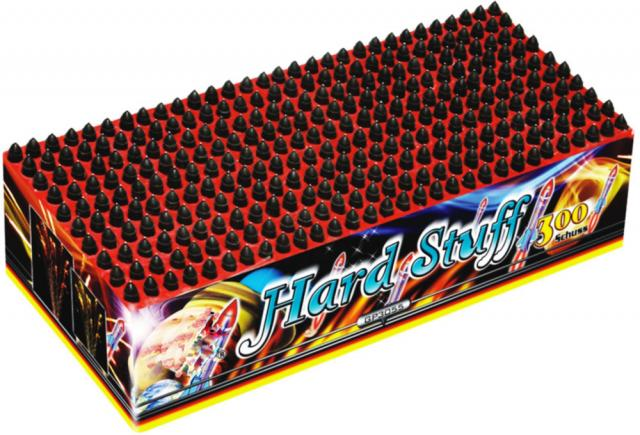 Hard Stuff 300-Schuss Pfeif-Batterie f Silvester Party Feuerwerk