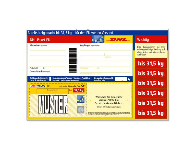 Paketmarken bis 31,5 KG Versandkosten sparen!!!