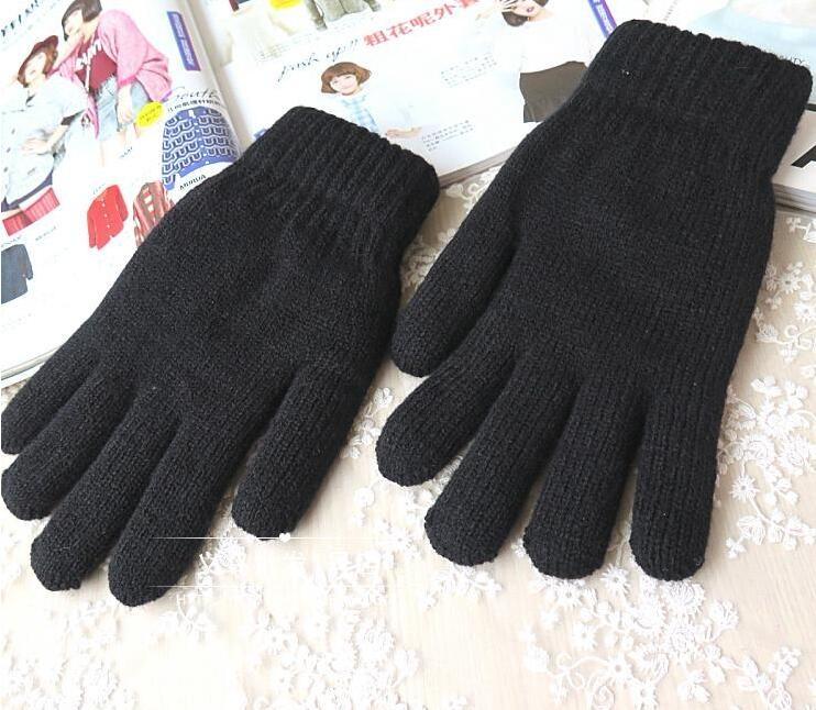 Gestrickte Winterhandschuhe für Frauen