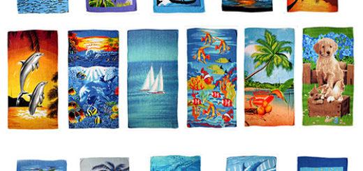 Strandtuch aus Baumwolle, verschiedene Motive