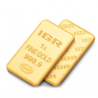 1 g Goldbarren (IGR Inc.) steuerbefreit nach § 25c USTG