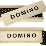 Holz Domino Spiel in Natur Holzbox