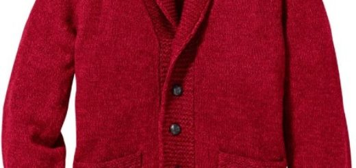 Herren Strickjacke Cardigan rot Regular Fit Bekleidung