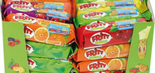 Food Fritt Kaubonbon 70gr 6-fach sortiert