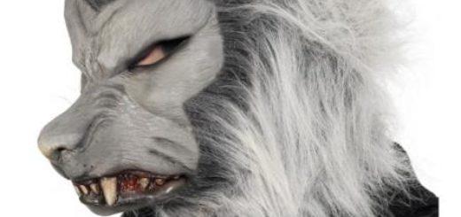 Halloween Maske - Werwolf mit Haar