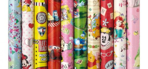 Geschenkpapier Rolle 2m x 70cm Disney Motive