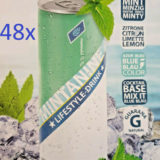 MINTANINE 48x 250ml Blue Lemonade Energy Drink Guaraná