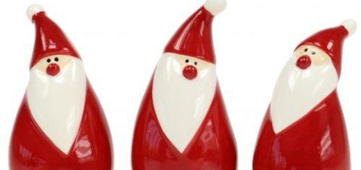 """Keramik Zaundeko """"Weihnachten"""", Weihnachtsdeko"""